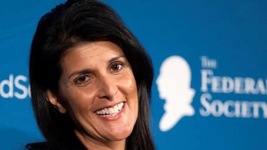 New US Ambassador to the UN Nikki Haley