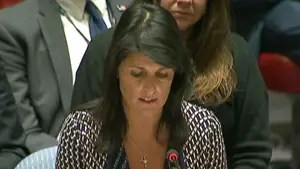 Haley addresses United Nations Security Council meeting