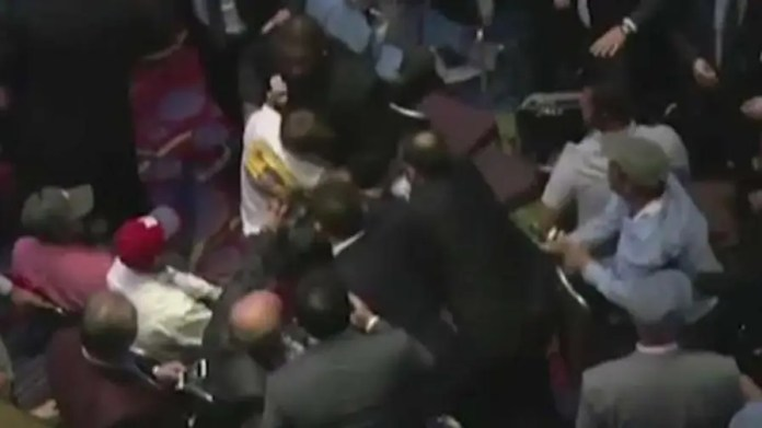 Brawl breaks out in crowd after protesters disrupt event; Laura Ingraham reports