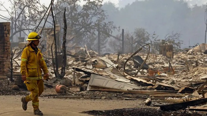 High winds turned a bad situation worse in wine country, catching fire officials and residents completely off guard; Claudia Cowan reports from Santa Rosa, California.