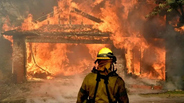 More than 65,000 acres are torched in Southern California as firefighters struggle to contain simultaneous wildfires fires forcing tens of thousands to flee their homes. Here's where the situation stands.