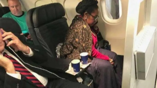 Fellow passenger claims she was bumped from her first class seat in favor of the Democrat from Texas; did race play a role? Reaction and analysis from conservative radio host Larry O'Connor and Democratic strategist Michael Starr Hopkins.
