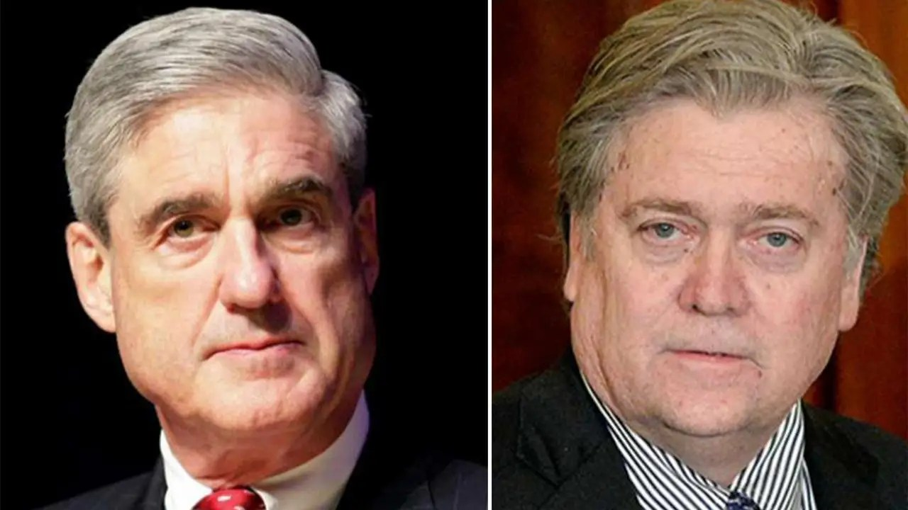 Image result for Steve Bannon vs Robert Mueller