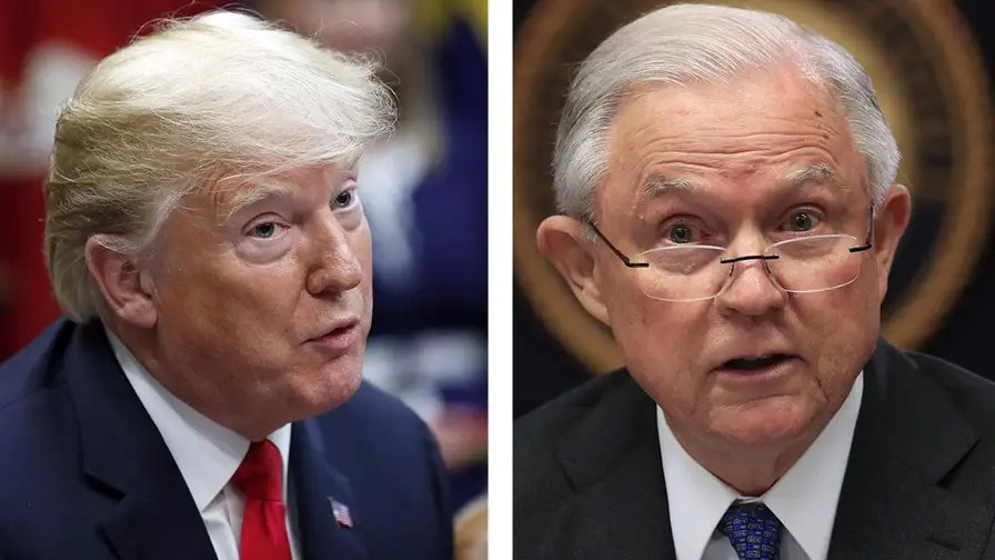 President Trump tells Bloomberg he will not fire Attorney General Jeff Sessions before the midterms, threatens to pull the U.S. out of the World Trade Organization if it does not 'shape up.'