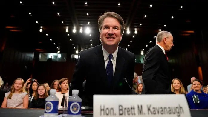 Image result for photos of Kamala harris brett kavanaugh