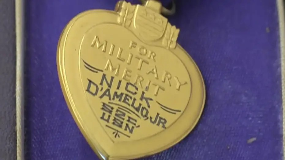 purple heart medal discovered