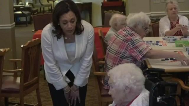 Senior center resident to Kamala Harris: Leave our health care alone