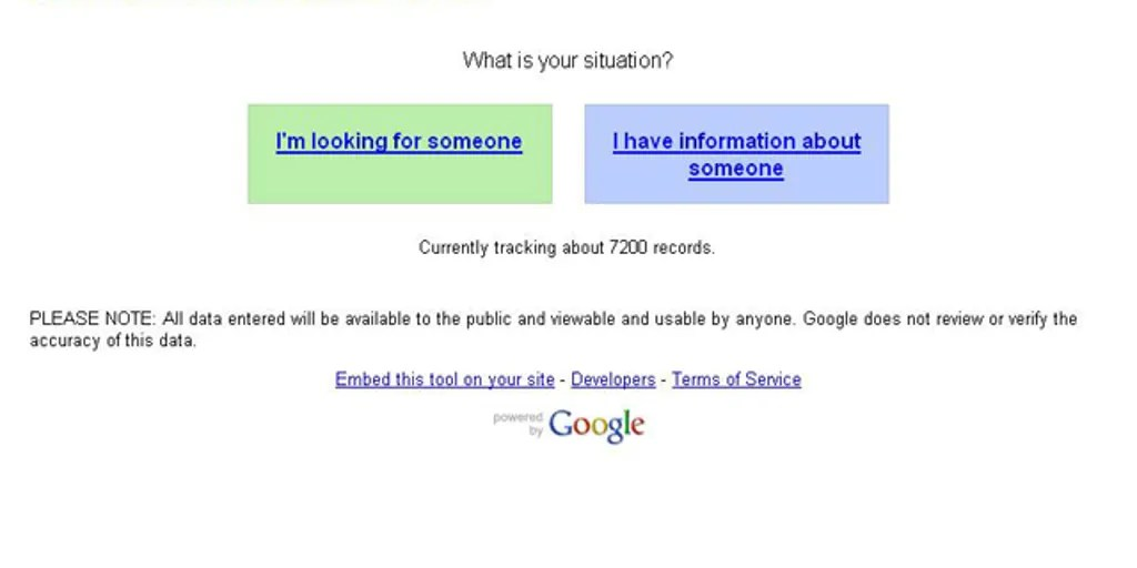 google releases person finder