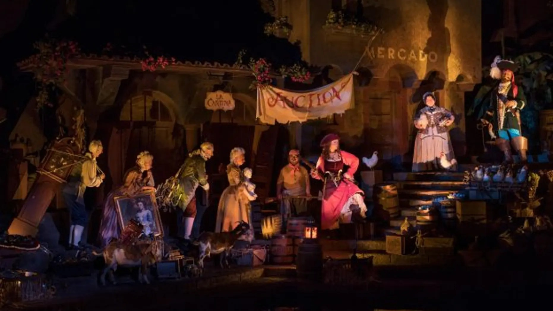 Disney World's redesigned 'Pirates of the Caribbean' attraction re-casts the animatronic 'wench' as a pirate. (Disney Parks Blog)