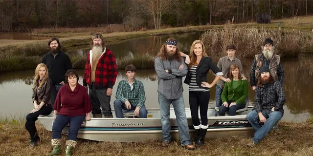 """The Robertson family from A&E's former """"Duck Dynasty."""""""
