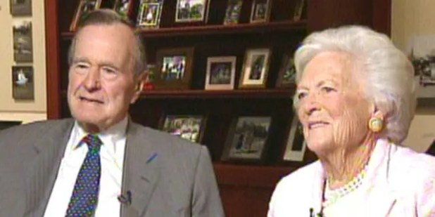 Former President George H.W. Bush and former first lady Barbara Bush, who died in April.