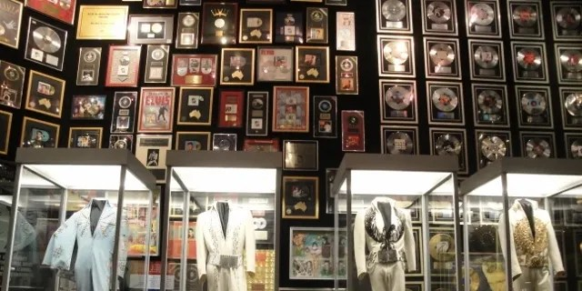Elvis Presley's costumes are displayed at Graceland.