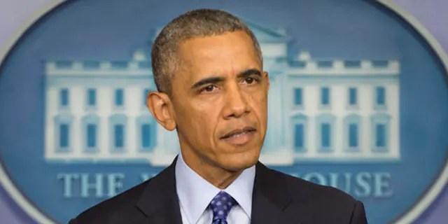 Then-President Barack Obama speaks at the White House, June 19, 2014. (Associated Press)