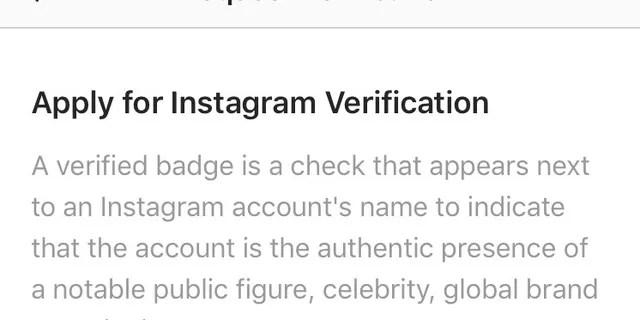 Instagram kullanıcılarının tam adlarını doldurmaları ve doğrulama için başvurmak üzere bir fotoğraf kimliği eklemeleri gerekir.