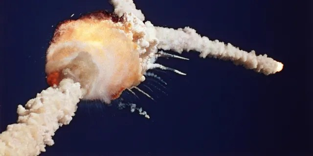 The space shuttle Challenger explodes shortly after lifting off from Kennedy Space Center in Florida, Jan. 28, 1986. (Associated Press)