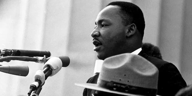 Dr. in the Civil Rights March of Washington, DC (8/28/1963 NA).  Martin Luther King Jr. Speaks