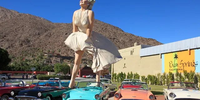 """The """"Forever Marilyn"""" statue is seen in Palm Springs, California, during its previous run in the city, 2012-2014. (iStock)"""