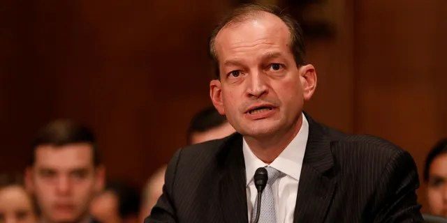 Labor Secretary Alex Acosta is formerly the dean of the Florida International University College of Law.