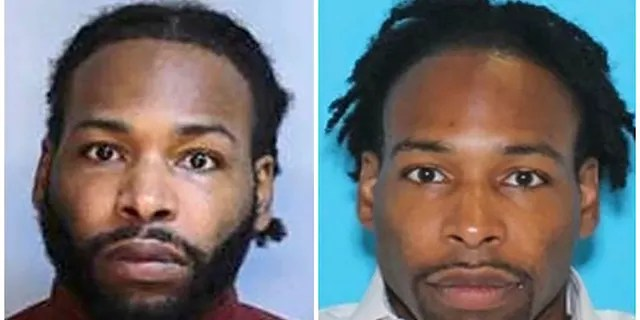 This combination of undated photos shows Jonathan Wesley Harris, of Johnstown, Pa. Harris is accused of strangling Christina Carlin-Kraft in one of Philadelphia's affluent suburbs. He arrived for a preliminary hearing on murder charges, Oct. 5, 2018 in Ardmore, Pa.