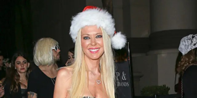 Tara Reid dons a Santa Claus costume while out in Hollywood on Oct. 30, 2016 in Los Angeles, Calif. (Photo by BG001 / Bauer-Griffin / GC Images)