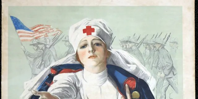 Red Cross poster of the First World War.