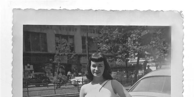 Bettie Page in New York City, circa 1951. — From