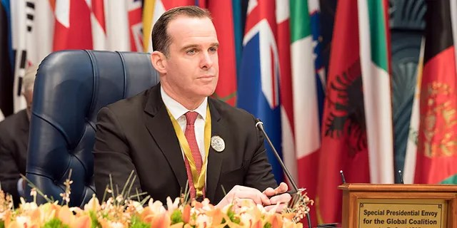 U.S. envoy to the coalition against Islamic State Brett McGurk attends the Kuwait International Conference for Reconstruction of Iraq, in Bayan, Kuwait February 13, 2018. REUTERS/Stephanie McGehee - RC1F82970110