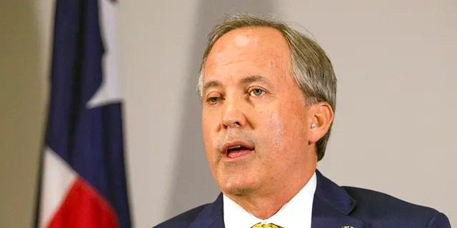 Texas Attorney General Ken Paxton speaks at a news conference in Austin, Texas, May 1, 2018. (Associated Press)