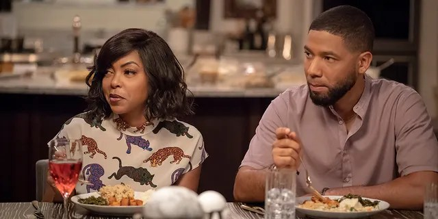 "L-R: Taraji P. Henson and Jussie Smollett in the ""Treasons, Stratagems, and Spoils"" episode of ""Empire."""