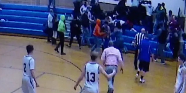 The brawl broke out at Pennsylvania Middle School on Saturday during a basketball game.