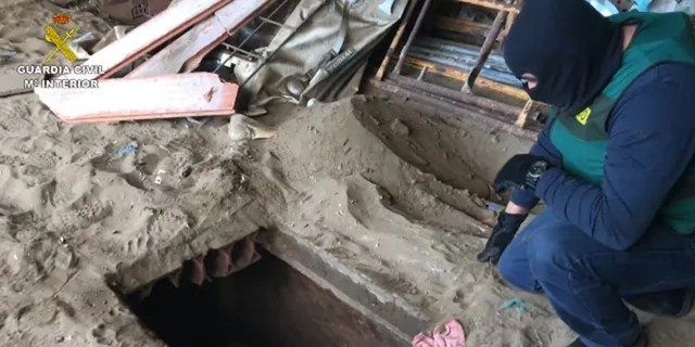 Police also located a hidden trapdoor in a farm in el Zabal de la Linea de la Concepcion, in Cadiz, where a hidden basement was used to stash up to a ton of drugs to be exported to Italy.