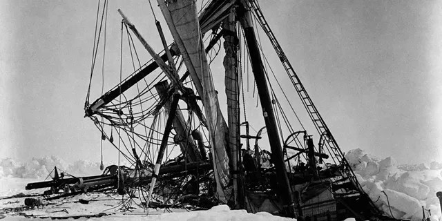 File photo - Ernest Shackleton's ship Endurance crushed in the pack ice of the Weddell Sea.