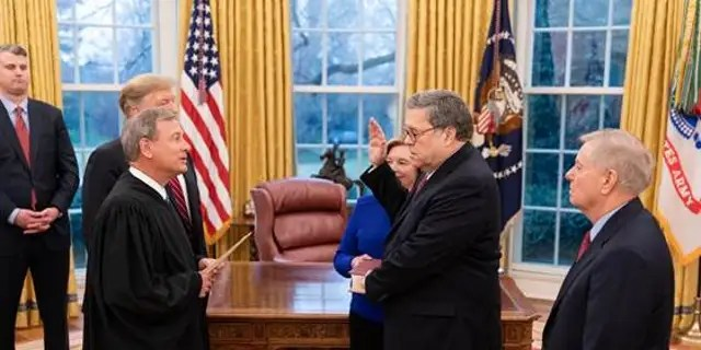 William Barr Sworn In As Attorney General Following