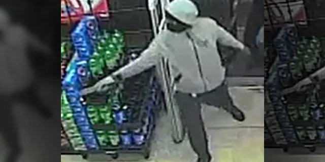 The suspects bolted after a clerk pulled out his gun, police said.