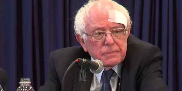 Bernie Sanders Hits Head On Shower Door Receives Stitches
