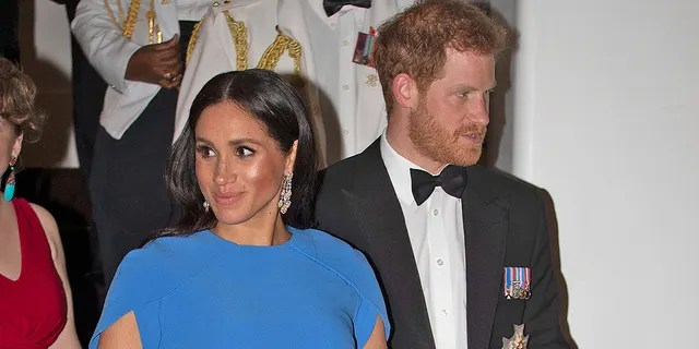 Meghan Markle and Prince Harry in Fiji in October 2018.