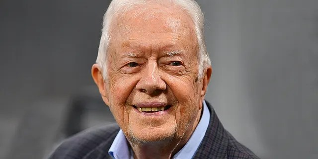Former president Jimmy Carter, seen here in September 2018, reportedly said President Trump had called him to discuss China. (Scott Cunningham/Getty Images, File)