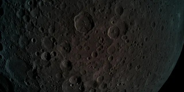 A picture taken by Beresheet - the far side of the moon during a maneuver at a height of 292 miles from the moon.