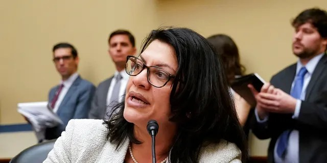 Rep. Rashida Tlaib, D-Mich., listens during a House Oversight and Reform Committee meeting, on Capitol Hill in Washington, Tuesday, Feb. 26, 2019. House Democrats are rounding the first 100 days of their new majority taking stock of their accomplishments, noting the stumbles and marking their place as a frontline of resistance to President Donald Trump. (AP Photo/J. Scott Applewhite)