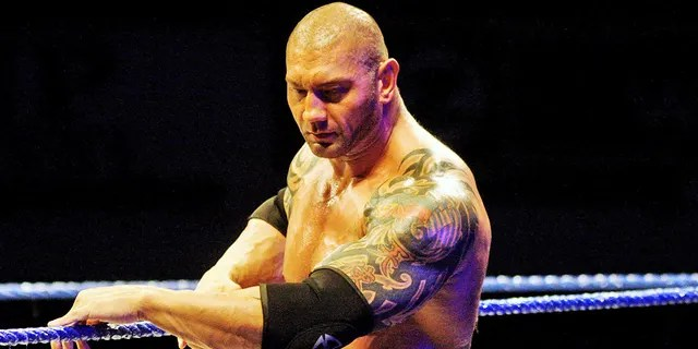 Dave Bautista famously has a large collection of tattoos.