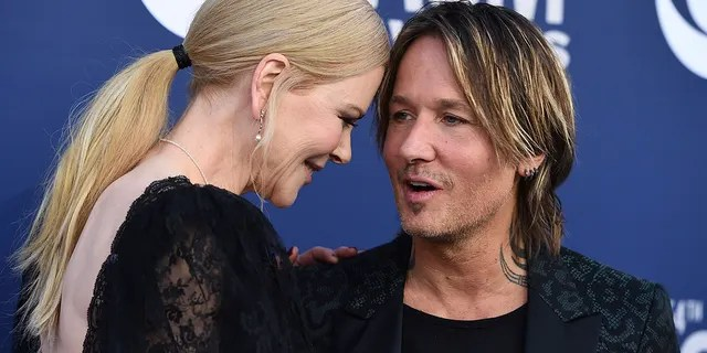 Nicole Kidman, left, and Keith Urban arrive at the 54th annual Academy of Country Music Awards at the MGM Grand Garden Arena on Sunday, April 7, 2019, in Las Vegas.