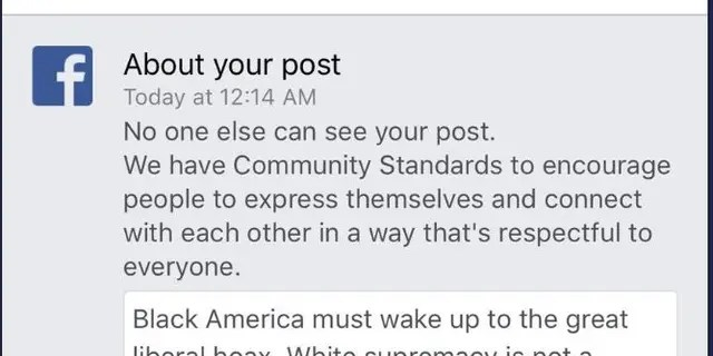 """Facebook temporarily suspended – then restored -- conservative commentator Candace Owens's account this week after she posted about the """"liberal supremacy"""" threat to black Americans."""