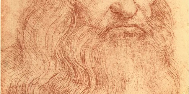 Sketch of Italian polymath Leonardo da Vinci (1452 - 1519).