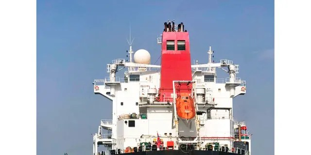 FILE: The Norwegian-flagged oil tanker MT Andrea Victory off the coast of Fujairah, United Arab Emirates.