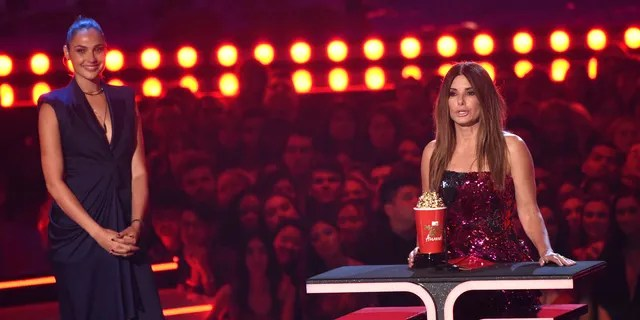 Sandra Bullock receives the award for most frightened performance for