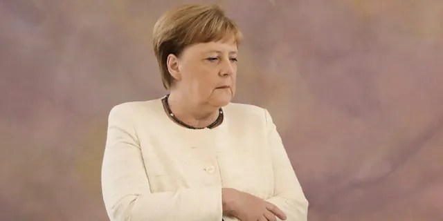 Angela Merkel was seen shaking at a public event for the second time in less than two weeks. A spokesman on Wednesday dismissed any concerns over her health, saying