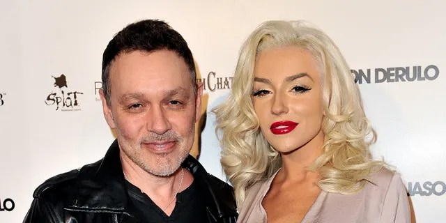 Doug Hutchison (L) and Courtney Stodden attend Star Magazine's Hollywood Rocks Event with Jason Derulo at The Argyle on April 15, 2015 in Hollywood, California. (Photo by Allen Berezovsky/Getty Images)