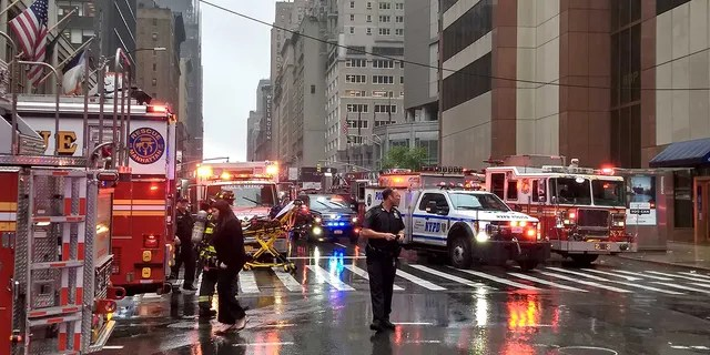 A massive emergency response on Monday after a helicopter crashed on a building in New York City.