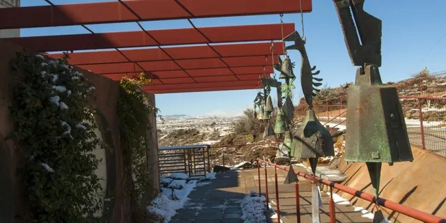 Arcosanti's visitor center in the Arizona desert is seen above. (Getty Images)