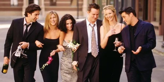 "Cast members of NBC's comedy series ""Friends"" still make a lot of money from reruns of the show."